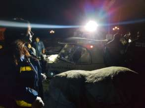 Refugee boat arrival at night on Lesbos, Greece!