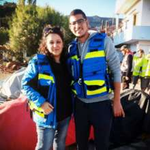 IsraAID mobile medical clinic, the team - Lesbos