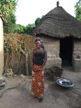 Martha at her family's home near Sokone, Senegal