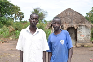 Farmers Eyit Joe, left & Okaka Vincent on right