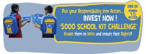 5000 School Kit Challenge for students in India
