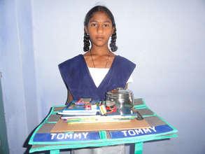 Deprived girl child at education sponsorship