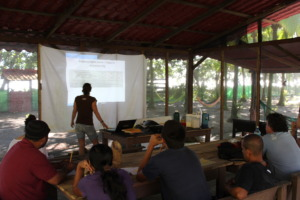 training session with our biologist