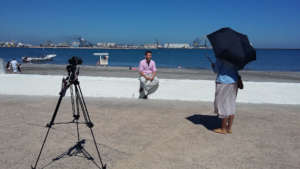 Being interviewed on and in the Port of Veracruz.