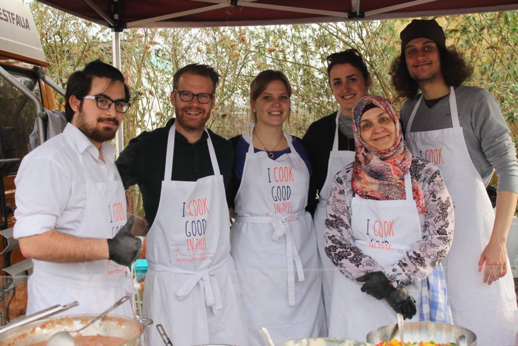 Yummy food opens hearts and integrates refugees