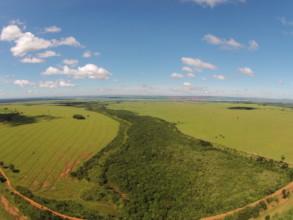 Bazilian land area seen by drone