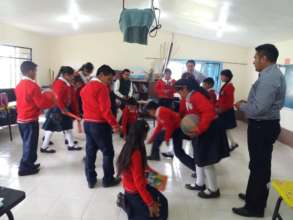 Students during classroom activities
