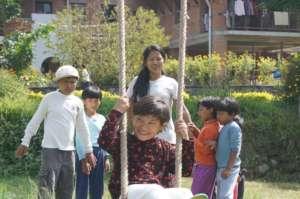Anjana on the Swing