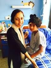 Menuka with Bina in Hospital