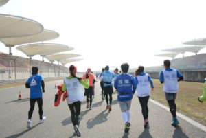 Visually impaired runner and Guide runners