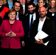 The IsraAID Team with Chancellor Angela Merkel
