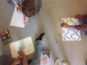 IsraAID Germany staff self-reflect using art