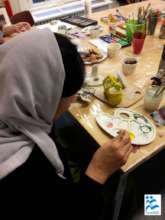 Yazidi support group - art therapy