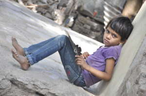 We work with girls in our local slum areas