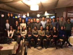 Dinner with donors who were scholarship holders