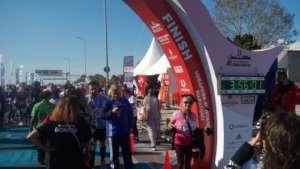 Mrs.Aygunduz run and finished marathon fr students