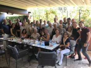 We are all together at breakfast in Izmir