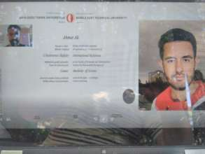Mr.Ak ,one of scholarship holders is on the screen