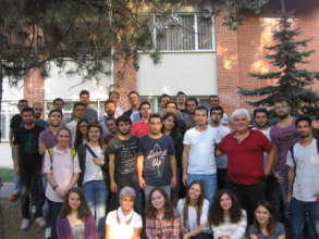 IN FRONT OF THE DORMITORY OF METU