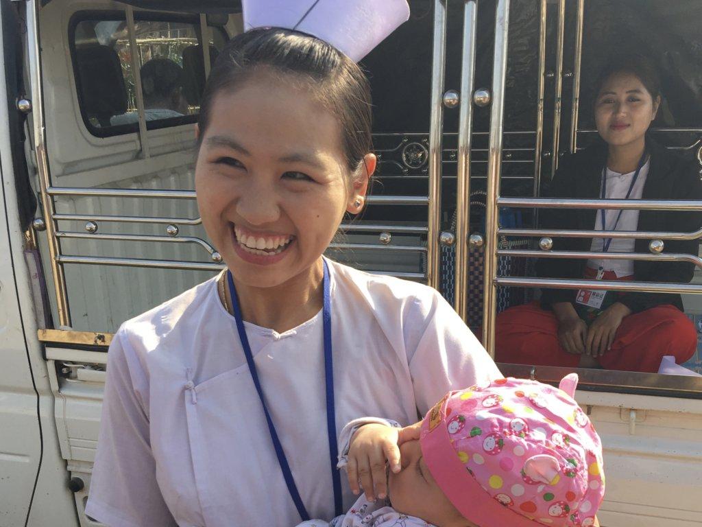 Provide books for 64 nursing students in Myanmar