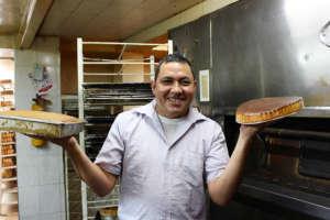 Jose with his famous pastel de queso!