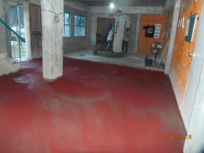 """The centre floors get a final """"screed coat"""""""