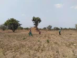 Arid farmland in the Luanshya district