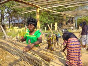 Female farmers learning to graft and bud trees