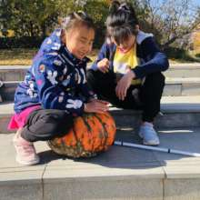 Fall fun with Cici and Bei Bei