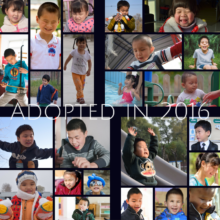 So many children adopted in 2016!