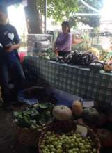 marketing vegetables in the city