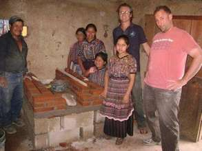 Newly constructed stove in indigenous home