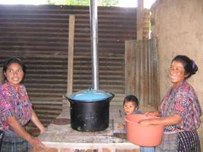 Newly constructed stove at Pena Blanca