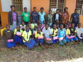 Rural girls in Kinogozi primary school