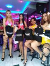 Bar Girls receiving Tamar Gift Bags