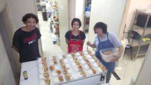 Tamar Center Staff prepares Food for Conference