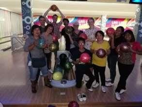 Goodbye bowling for Alinda and Rik