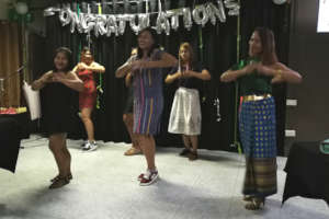 Students performing dance