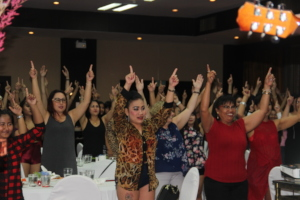 Outreach Party with 108 women in attendance