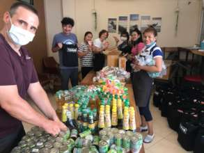 Tamar Team packing the food bags