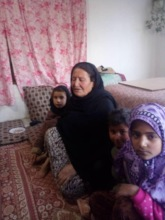 Beneficiary: a displaced family in Kabul