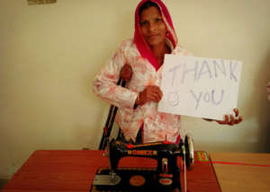 mother's Happiness with Sewing machine !!