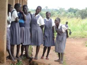Laughing girls at Secondary School