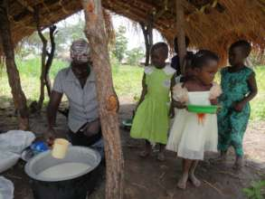 750 children receive porridge every day