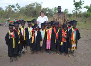 Alison with the graduates