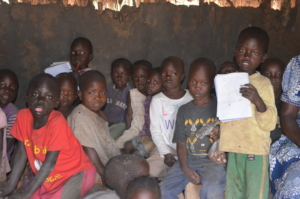 Children at school in Putuke, near Kitgum