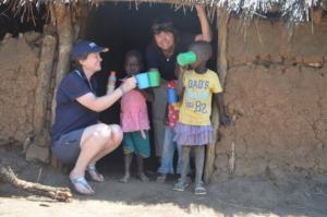 Checking on our porridge distribution