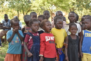 Singing children at Potuke Nursery School