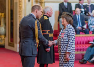 Receiving my MBE from Prince William