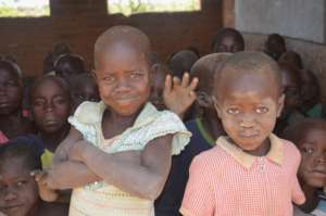 Children at the new primary school